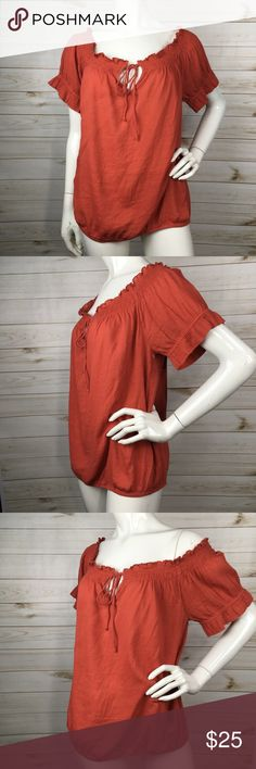 Susina Off the Shoulder Keyhole Cotton Blouse Brand new without tags RD2 Susina Tops Blouses