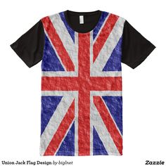 #Union #Jack #Flag Design All-Over Print #T-shirt