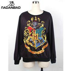 2015  Knitted 3D Harry Potter Hogwarts sweatshirt sudaderas woman / man Hoodies  Sweatshirts For moletom WYS1041