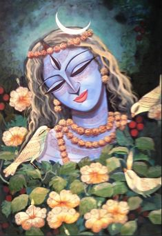 Shiva Parvati Images, Durga Images, Lord Shiva Painting, Krishna Painting, Shiva Art, Hindu Art, World Best Painting, Lord Shiva Pics, Hindu Deities
