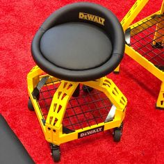 Epic new rolling shop stools from So new they were flown in just for IBS. No word on pricing as of yet! Garage Tools, Car Tools, Diy Garage, Workshop Stool, Workshop Design, Mobile Workshop, Dewalt Tools, Tool Store, Milwaukee Tools