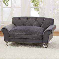 found it at wayfair la joie velvet dog sofa with cushion