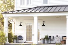 Rejuvenation Summerize Sweepstakes: warehouse lights, retro metal chairs, and outdoor accessories create an inviting porch  http://woobox.com/u9px66
