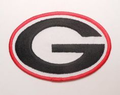 """Big 4"""" Georgia Bulldogs Oval letter G College University Football Logo Badge Hat Shirt Jacket Backpack Embroidered Sew Iron on Patch USA"""