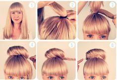 Modèle de coiffure simple et rapide facile à faire