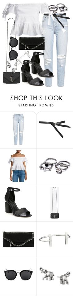 """""""Untitled #19635"""" by florencia95 ❤ liked on Polyvore featuring Topshop, Rebecca Taylor, Alexander Wang, Yves Saint Laurent, STELLA McCARTNEY, French Connection and Lonna & Lilly"""