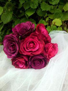 Vive les mariés, déco, bouquets, kits  Bouquet de ROSES VINTAGE fleurs artificielles décoration ou mariage
