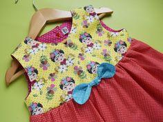Vestidinho Frida - laço | Meia Tigela | Elo7