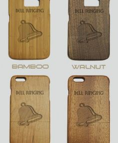 http://woodcases.co/product/bell-ringing-engraved-wood-phone-case/