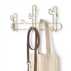 Umbra Desert Cactus Wall Hook - brass characterful coat rack