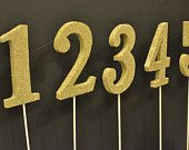 yellow table numbers