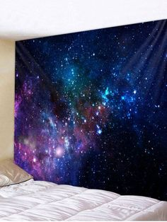 Kid bedroom ideas OFF] 2019 Colorful Galaxy Print Tapestry Wall Art In Multicolor Inspire Me Home Decor, Metal Tree Wall Art, Tapestry Wall Hanging, Wall Hangings, Art Mural, Wall Murals, Tapestry Online, Cheap Wall Tapestries, Tapestry Bedroom