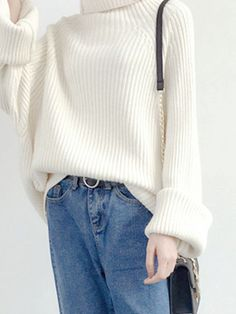 """hyokko: """"Pure Color Turtleneck Knitted Sweaters Use """"Joanna15"""" for a discount on your purchase ! """""""