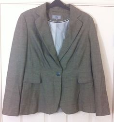 New - Womens M&S Pebble Grey Fully Lined Tailored Suit Jacket Size 14