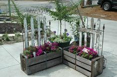 beautiful planter box. This would look very cute in a dull corner of the yard or patio
