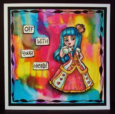 Visible Image stamps - Queen Of Hearts - Wonderland character stamps - Pauline Butcher