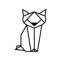 katze geometrisch - Google-Suche Geometric Cat, Geometric Tattoo Design, Geometric Drawing, Geometric Designs, Worlds Best Tattoos, Popular Tattoos, Washi Tape Wall, Masking Tape, Fuchs Tattoo