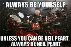 Neal Peart, god of drums