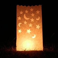 moon and star luminary candle bags