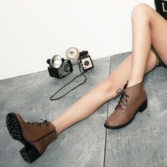 Buy 'CUTIE FASHION – Side-Zip Ankle Boots' with Free International Shipping at YesStyle.com. Browse and shop for thousands of Asian fashion items from Taiwan and more!