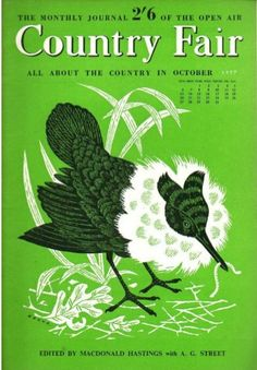 The Magazine Cover, Country Fair, October, 1957, illustrations by Johnny Hanna.