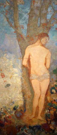 """""""Saint Sebastien"""" 1909 (144x62,5 olio su tela) Odilon Redon"""