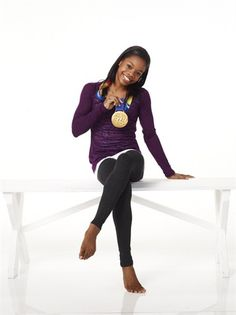 Gabby Douglas and her shiny new 2012 Olypmpic gold metal!