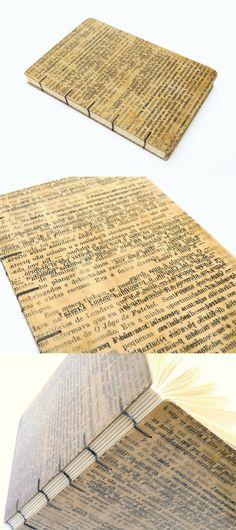 livro sob medida, encadernação copta, capa de papel artesanal, no Canteiro de Alfaces
