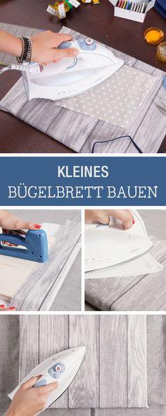 kleines Bügelbrett selber bauen / diy idea: building an ironing board via DaWanda.com