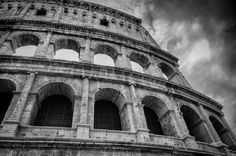 The Flavian Amphitheater in Rome, Italy