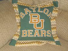 Baylor Bears Tshirt Pillow by JerseyMagic on Etsy, $25.00 www.facebook.com/jerseymagicquilts