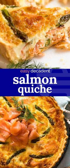 The most amazing salmon quiche made with smoked salmon!! When cooked, it's looks just like cooked normal salmon - but with better seasoning in every bite.
