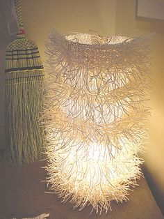 Finnish paper, handwoven lamp, design by Susan Johnson / Avalanche  Looms
