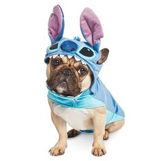Rather than Stitch being mistaken for a dog, your dog will be mistaken for Stitch with this fun pet costume. Inspired by Experiment 626 from Lilo & Stitch, the outfit includes the main body featuring his distinctive markings, and his headwear complete with 3D ears. Stitch Dog Costume, Stitch Halloween Costume, Pet Halloween Costumes, Pet Costumes, Lilo And Stitch Costume Kids, Chucky Halloween, Halloween Inspo, Halloween Gifts, Costume Ideas