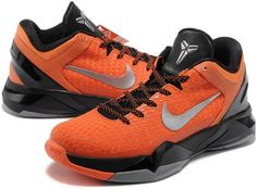 http://www.asneakers4u.com Nike Zoom Kobe 7 Elite Shoes Orange/Black/Gray1