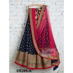 Navy Blue Tapeta Silk With Embroidered Work Women Oracle Lehenga Choli with Matching Color unstiched blouse. It contained the Embroidered work with inner. The Lehenga can be customized up to bust size 44 , Lehenga Length 48 , Waist size 38 , and Dupatta s