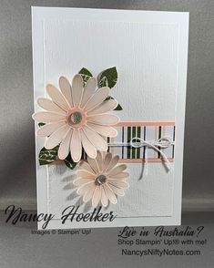 Nancy's Nifty Notes - Handcrafted Greeting Cards and Paper Gifts Circle Punch, Glue Dots, Card Kit, Paper Gifts, Creative Cards, Craft Supplies, Stampin Up, Daisy, Greeting Cards