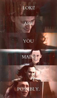 """""""What is life without a little risk?"""" -Sirius Black  I think this quote fits Loki in Thor:The Dark World pretty well..."""