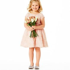 Victoria Rose Tulle Rosette Dress - Tea Rose