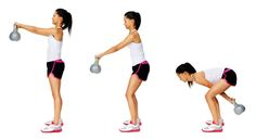 Two-arm swings require some effort! Although it's tough after a few reps, keep going to meet your goals.