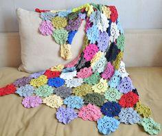 a lovely crocheted throw