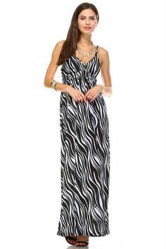 94db262af1da Braided Strap Printed Maxi Dress