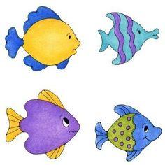 Coloridos, divertidos, formas sencillas en todas estas  imágenes para imprimir de peces infantiles se pueden utilizar para trabajos preesco...