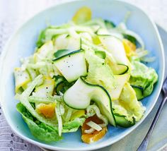 Fresh and crisp, this salad combines tangy fennel with zesty orange and crunchy courgette - dress at the very last minute before serving
