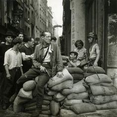 French Resistance fighters in Paris, August 1944