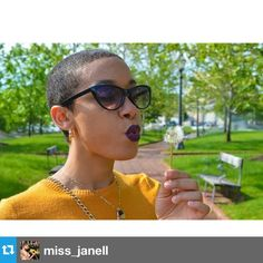 Short, sassy and fierce! @miss_janell #naturalhair #teamnatural #shortandsassy