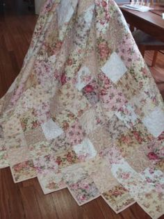 Shabby+Chic+Quilt+Patterns+Free   Glenrose Patchwork - Rose Shabby Chic Quilt