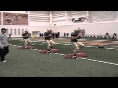 A Combination of Quarterback development drills collected from Coach Gary Nord at Purdue and Florida Atlantic Football Workouts, Flag Football, Notre Dame Football, Youth Football, Basketball Drills, Ohio State Football, Ohio State Buckeyes, American Football, Oregon Ducks Football