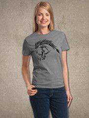 Fierce Tribal Art Horse Head T-shirt