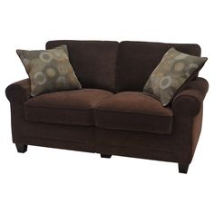 Serta RTA Copenhagen Collection 61 in. Loveseat | from hayneedle.com